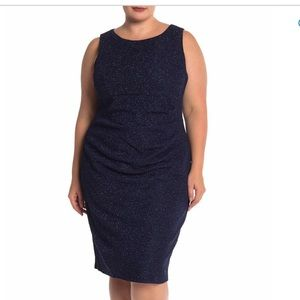 NWT Eliza J Side Pintuck Sheath Dress
